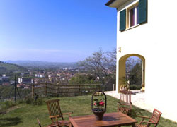 panorama dall'appartamento bed breakfast Dolce Colle Gabicce Monte